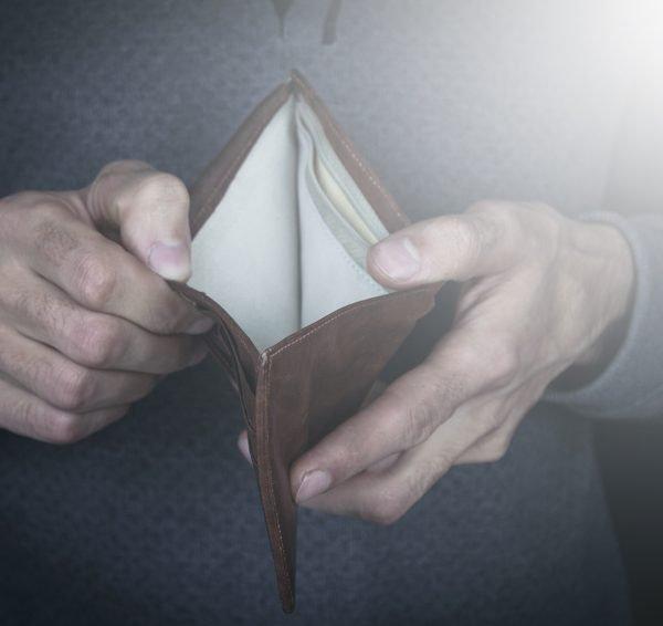 tom lommebok grunnet betalingsanmerkninger
