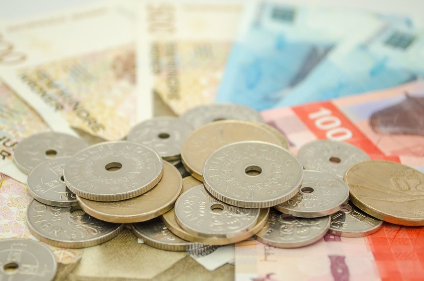 norske mynter og sedler